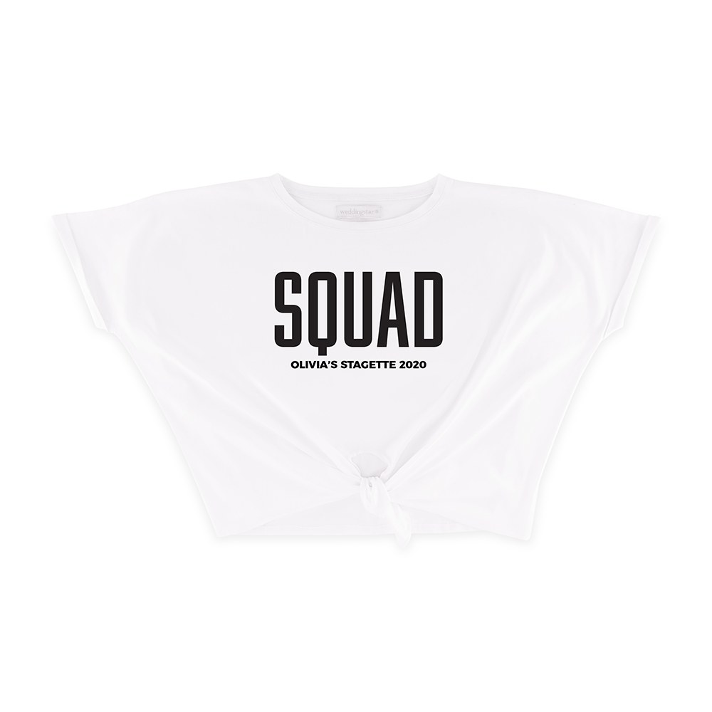 Personalized Bridal Party Tie-Up Wedding Shirt - Glam Squad