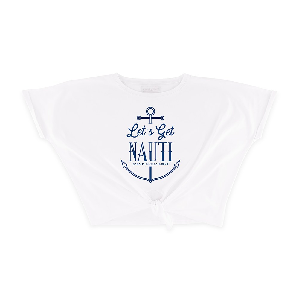 Personalized Bridal Party Tie-Up Wedding Shirt - Let's Get Nauti