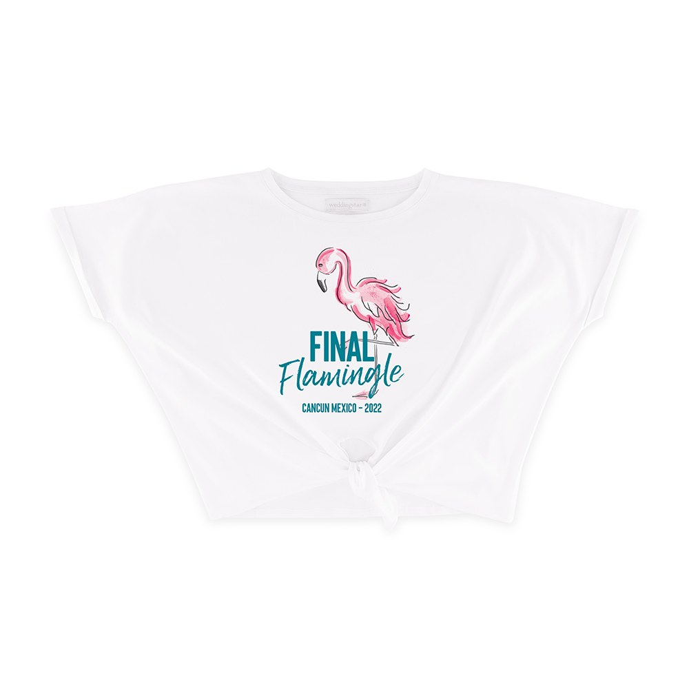 Personalized Bridal Party Tie-Up Wedding Shirt - Final Flamingle