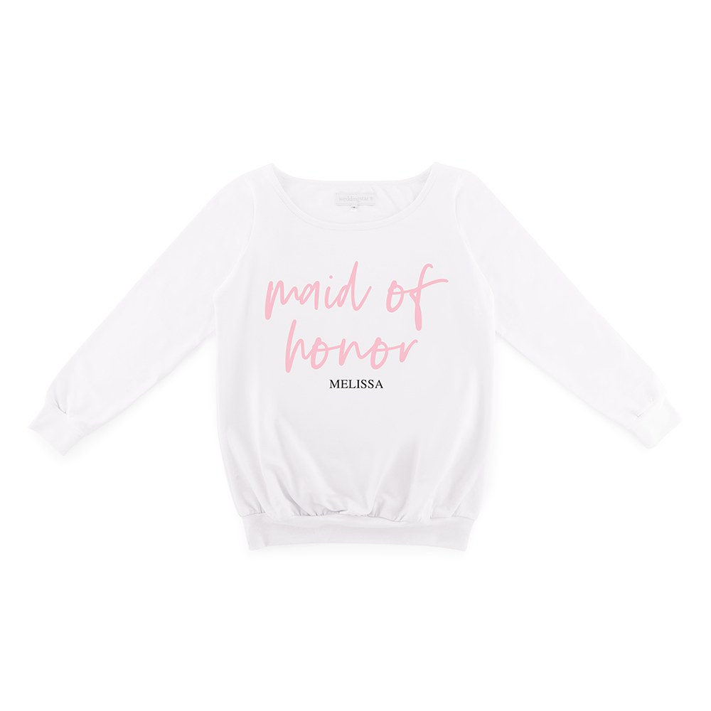 Personalized Bridal Party Wedding Sweater - Maid of Honor Script