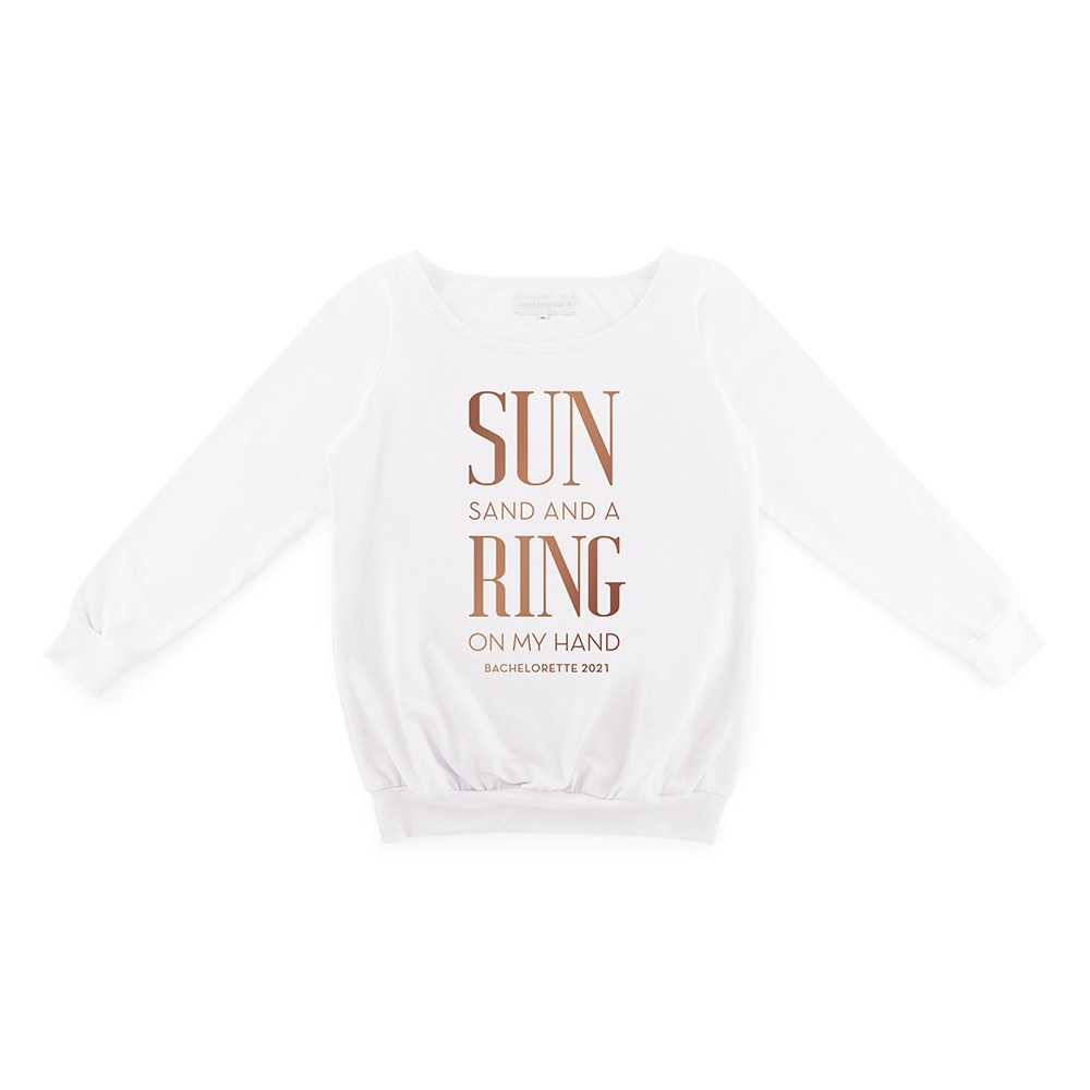Personalized Bridal Party Wedding Sweater - Ring On My Hand