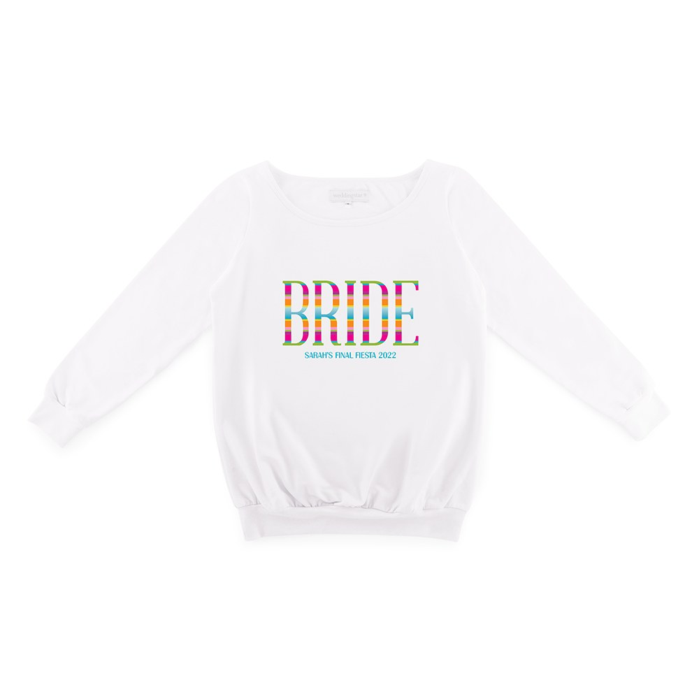 Personalized Bridal Party Wedding Sweater - Fiesta Bride