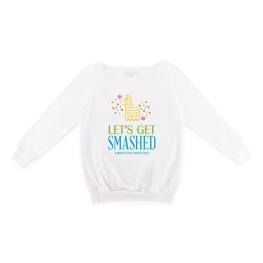 Personalized Bridal Party Wedding Sweater - Get Smashed
