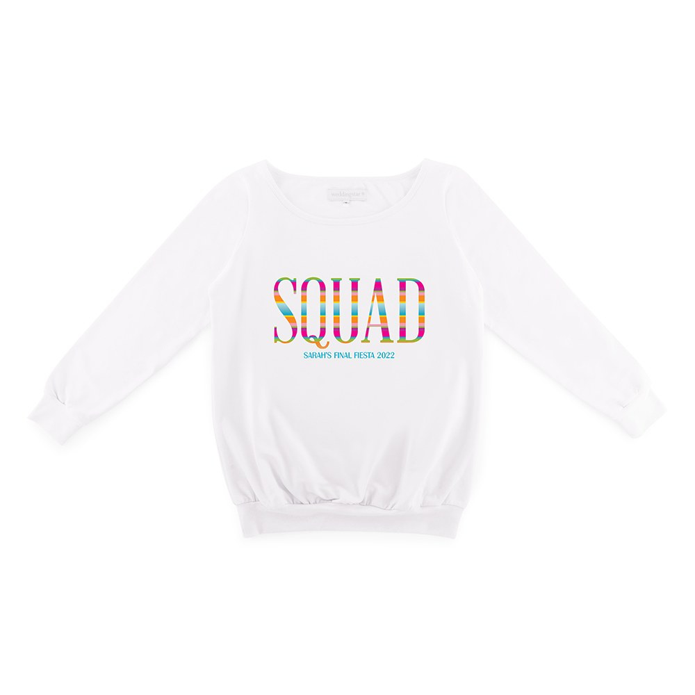 Personalized Bridal Party Wedding Sweater - Fiesta Squad