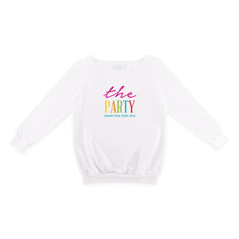 Personalized Bridal Party Wedding Sweater - The Party
