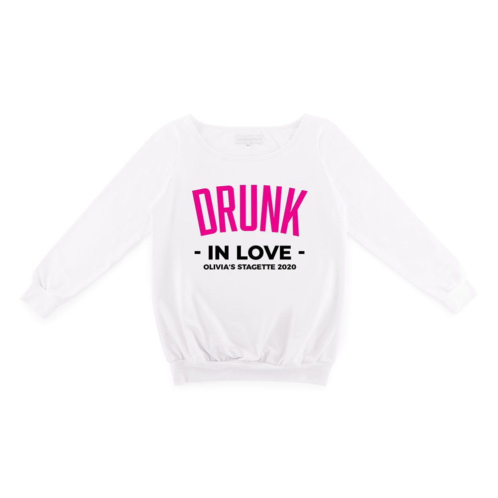 Personalized Bridal Party Wedding Sweater - Drunk In Love