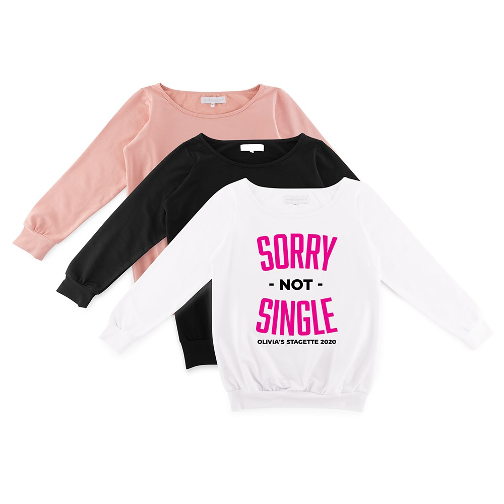 Personalized Bridal Party Wedding Sweater - Sorry Not Single
