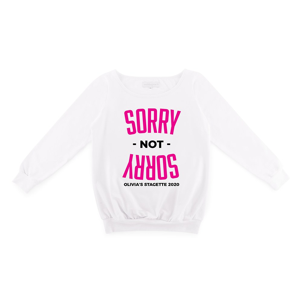 Personalized Bridal Party Wedding Sweater - Sorry Not Sorry