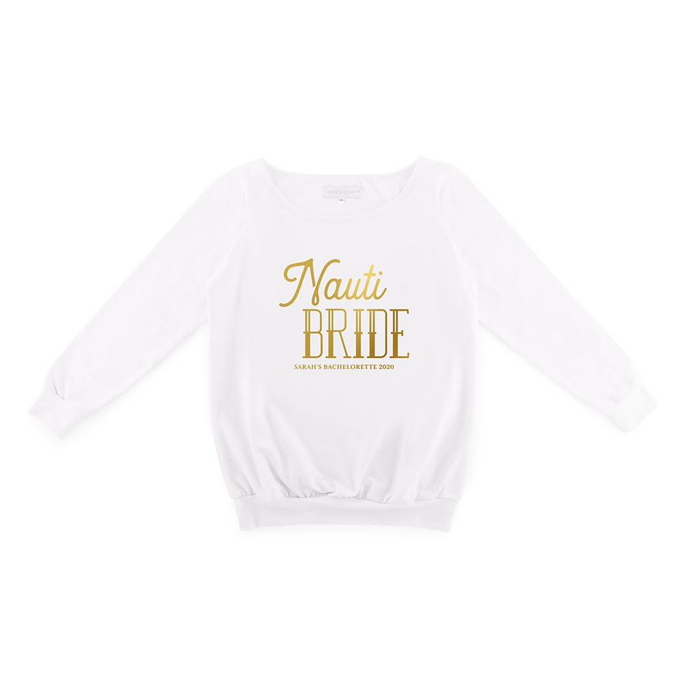 Personalized Bridal Party Wedding Sweater - Nauti Bride
