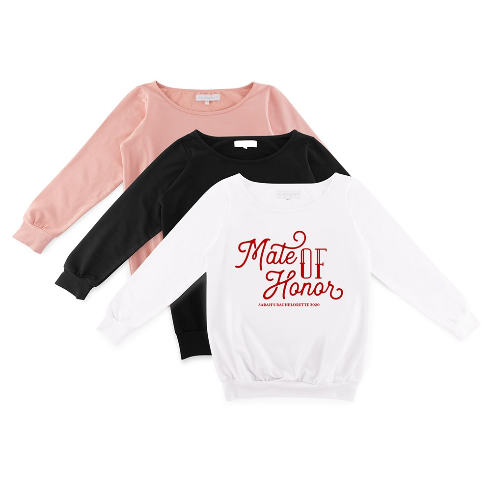 Personalized Bridal Party Wedding Sweater - Mate of Honor