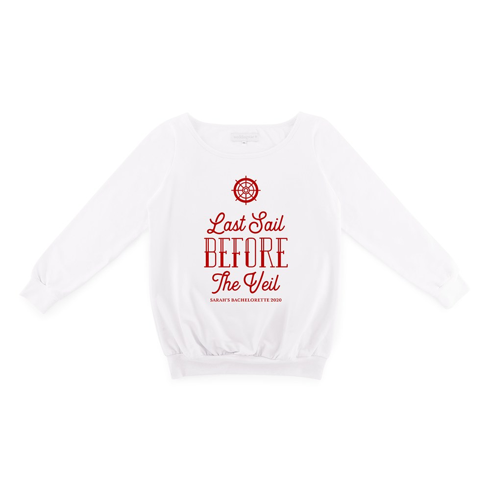 Personalized Bridal Party Wedding Sweater - Last Sail Before The Veil