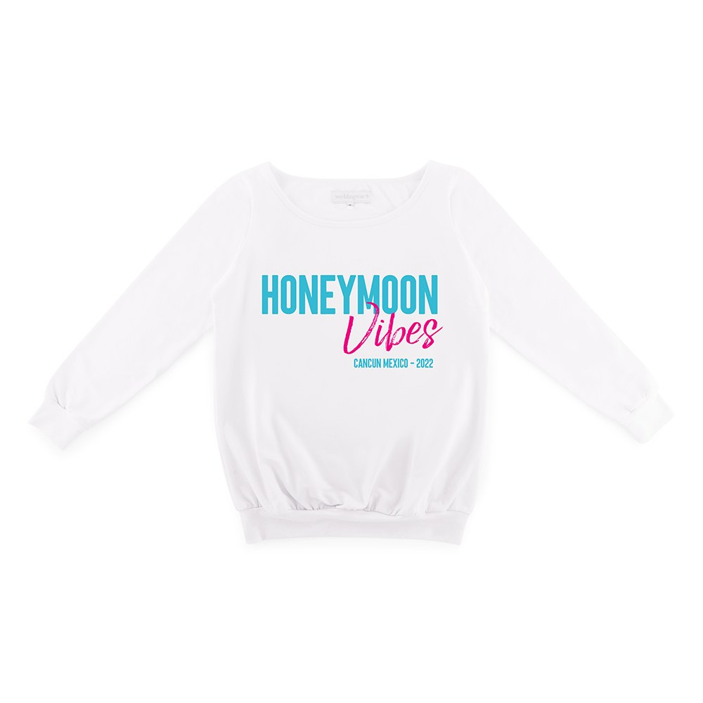 Personalized Bridal Party Wedding Sweater - Honeymoon Vibes