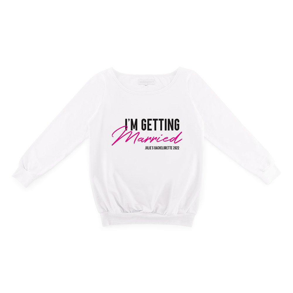 Personalized Bridal Party Wedding Sweater - I'm Getting Married