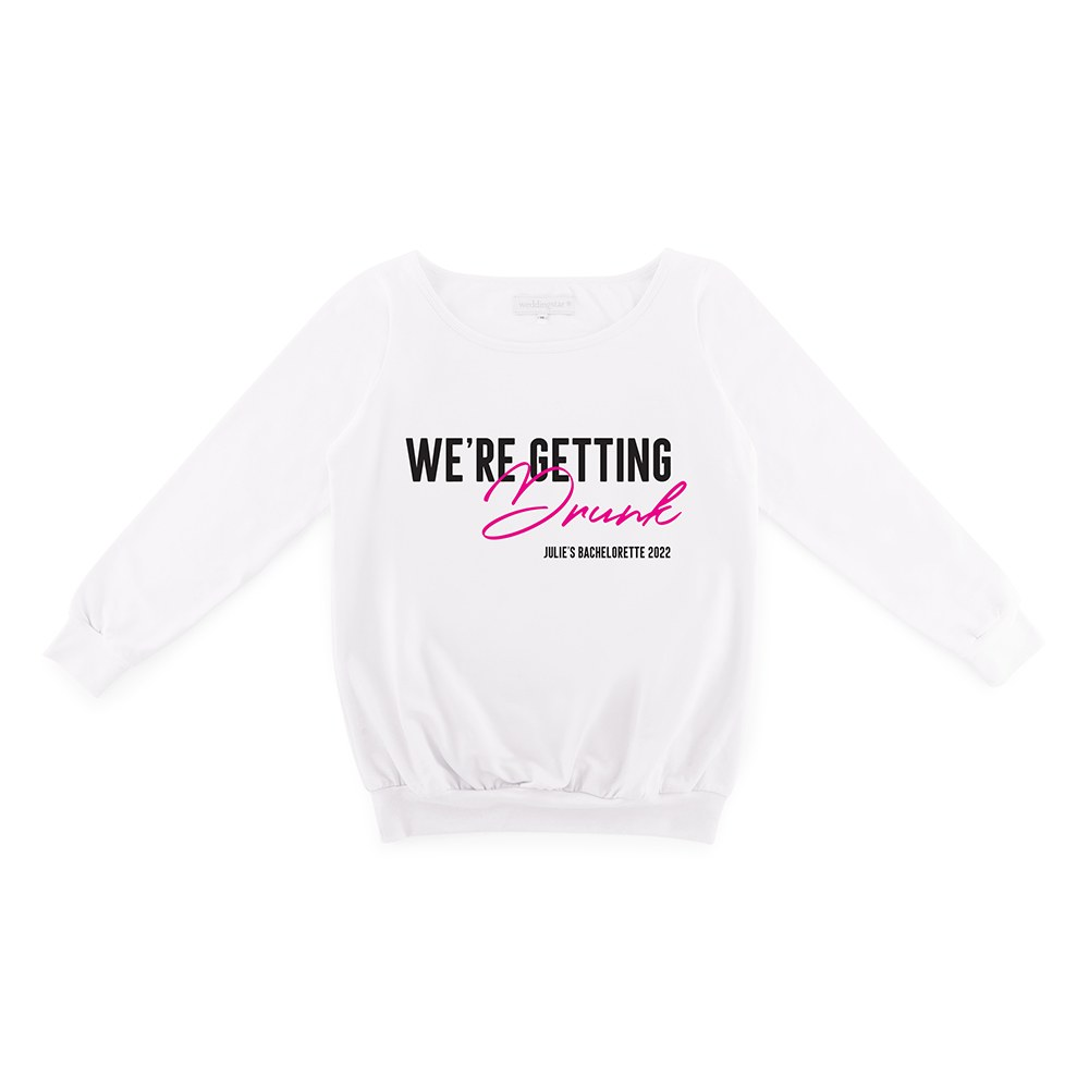 Personalized Bridal Party Wedding Sweater - We're Getting Drunk