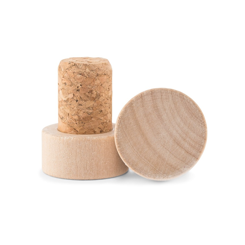 Custom Engraved Reusable Wooden Bottle Stopper