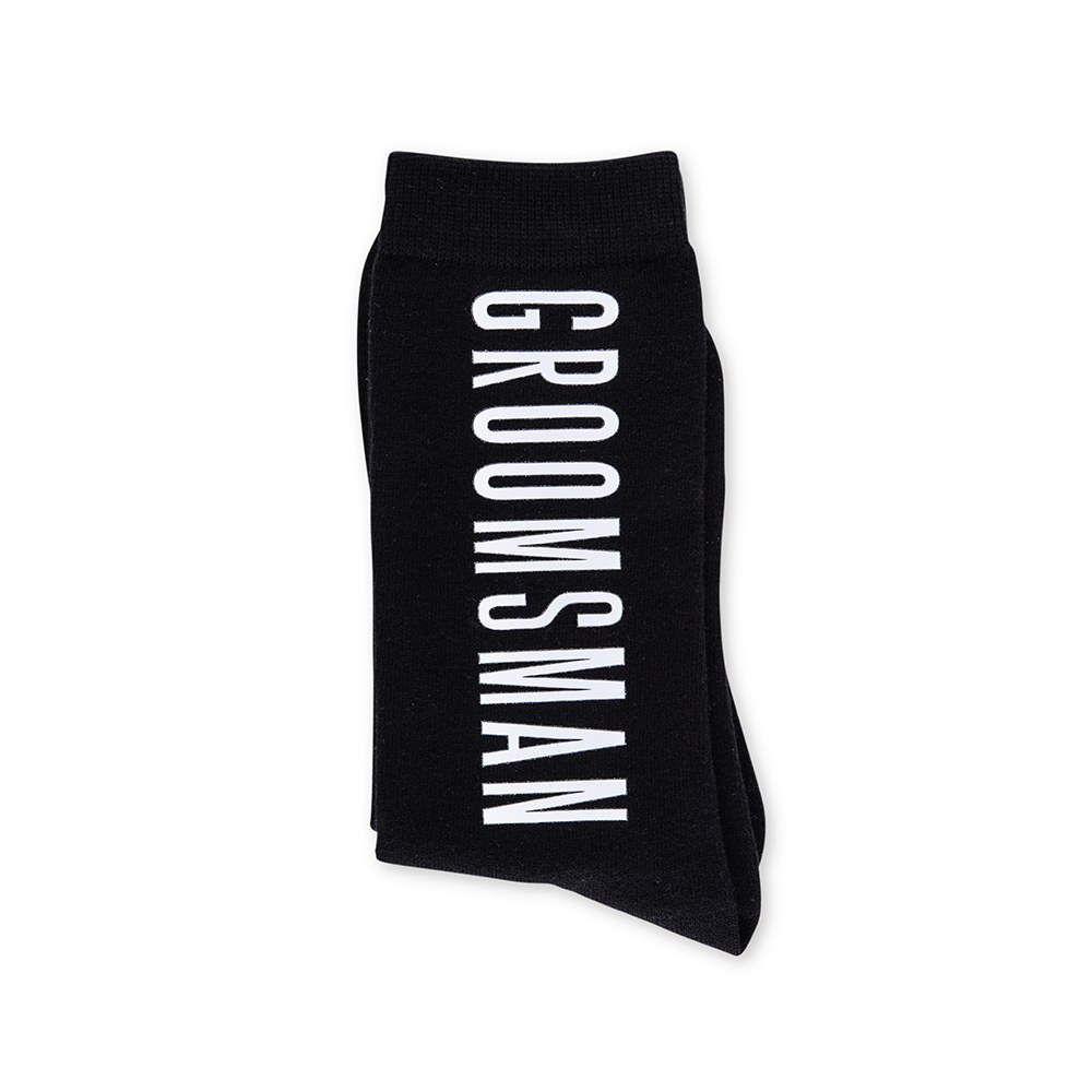 Men's Black Wedding Party Dress Socks - Groomsman