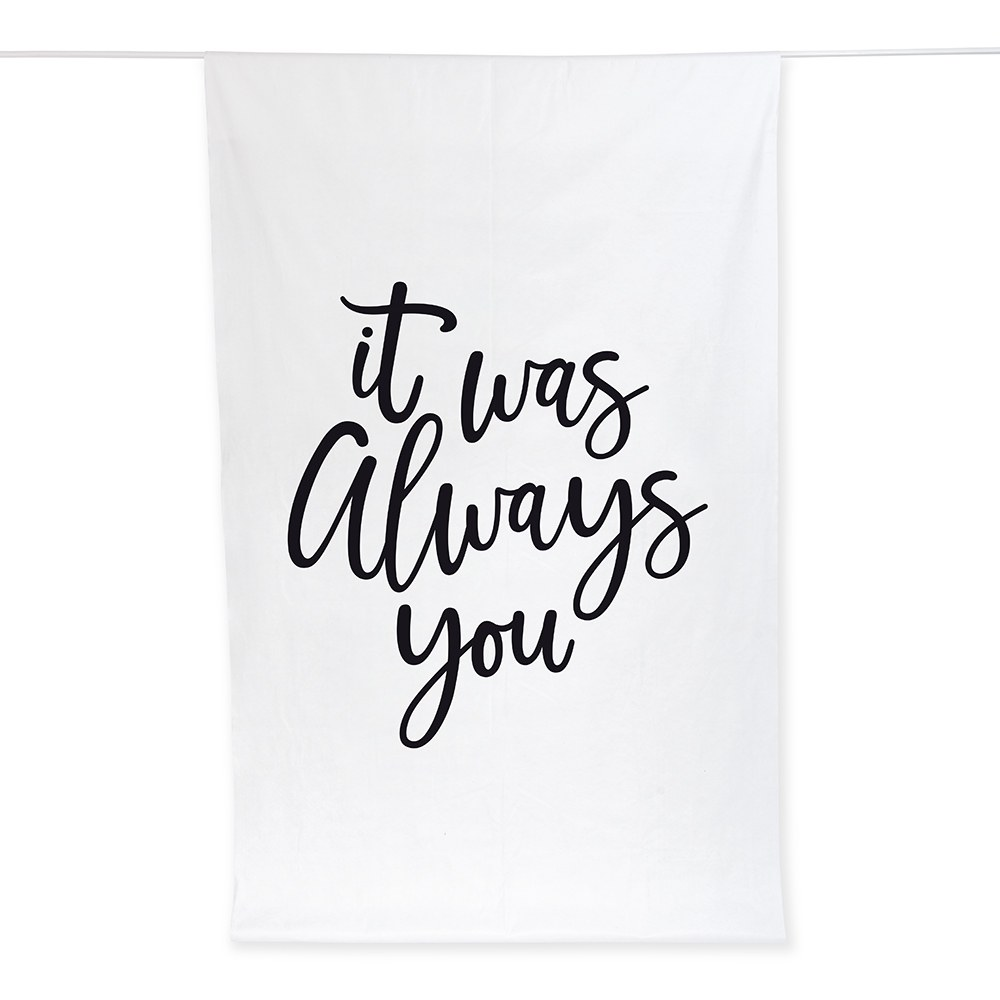 Printed Photo Backdrop Wedding Decoration - Always You
