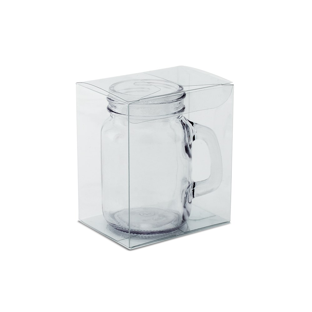 Mason Jar Shot Glass Clear Plastic Gift Box