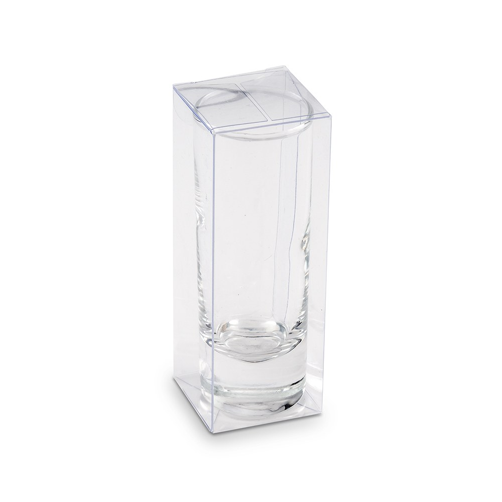 Tall Shot Glass Clear Plastic Gift Box