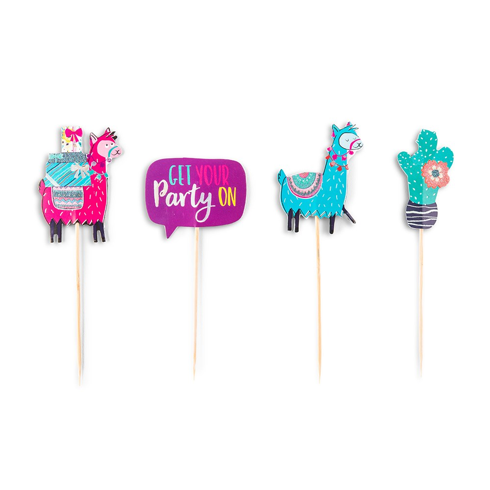 Paper Cupcake Topper Picks - Fiesta Party - Set of 12