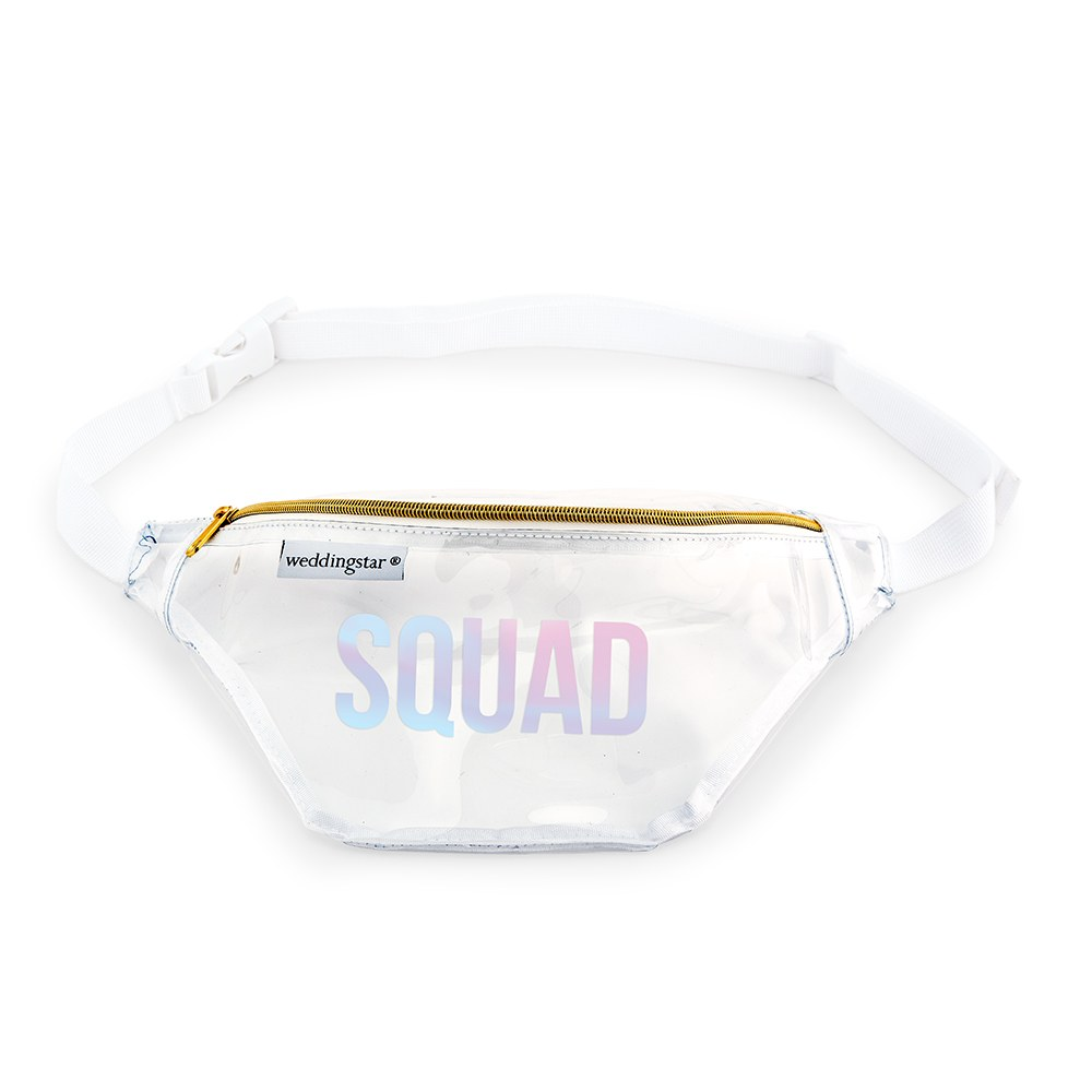 Clear Plastic Fanny Pack - Squad
