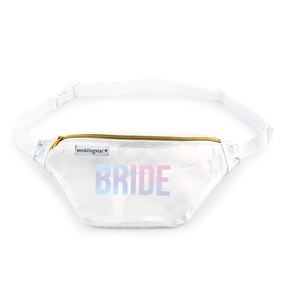 Clear Plastic Fanny Pack - Bride