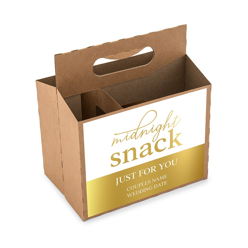 Personalized Kraft Cardboard Snack Caddy - Midnight Snack