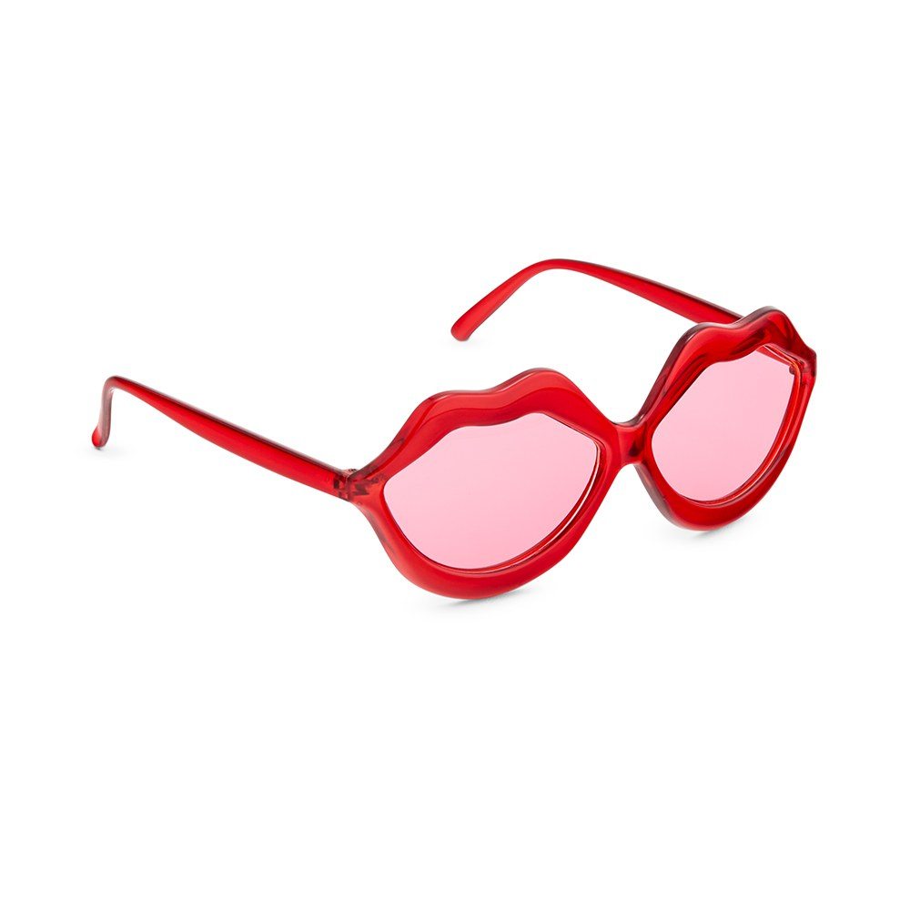 Women's Unique Shaped Bachelorette Party Sunglasses - Red Lips