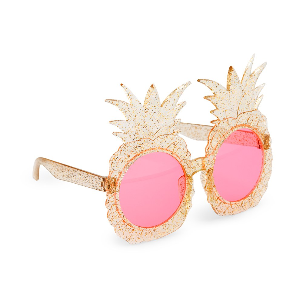 Women's Unique Shaped Bachelorette Party Sunglasses - Pineapples