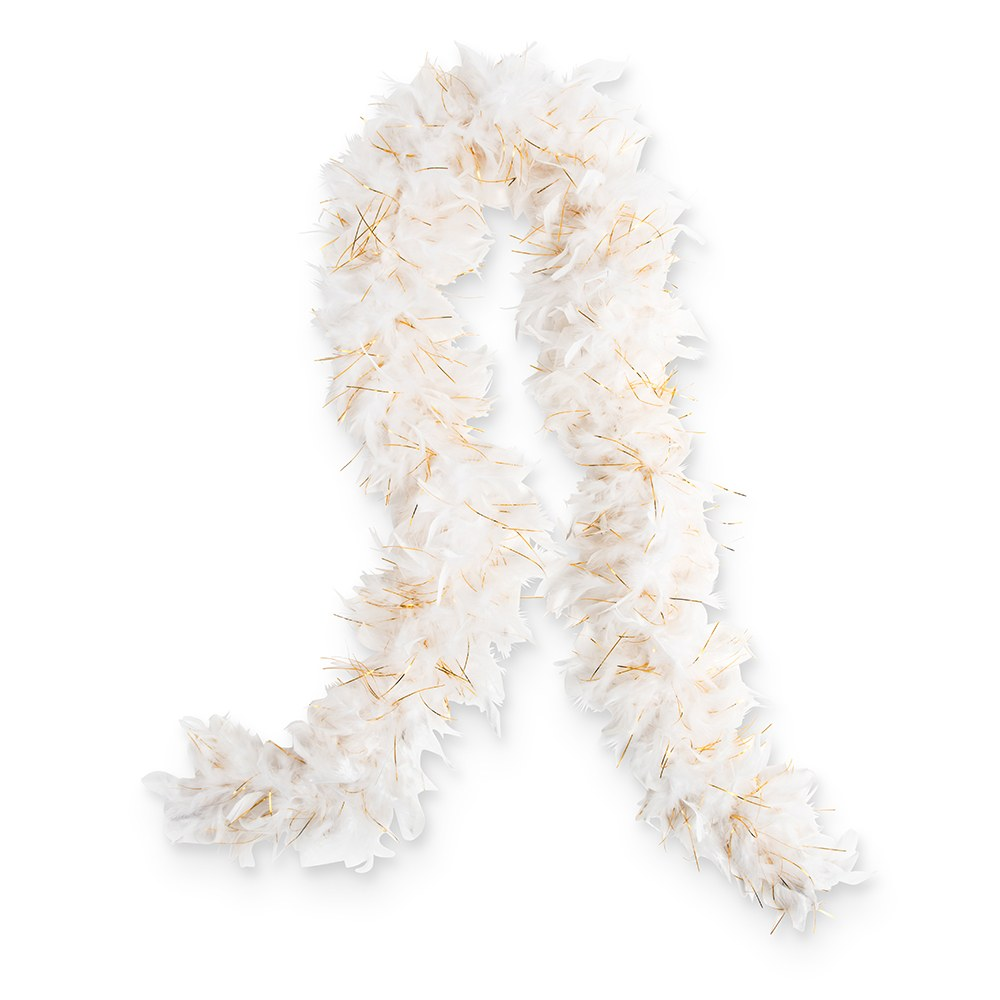 Sparkly Bachelorette Feather Boa - White