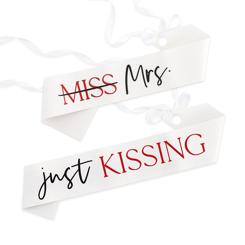 Paper Bachelorette Party Sash - Kissing the Single Life Goodbye