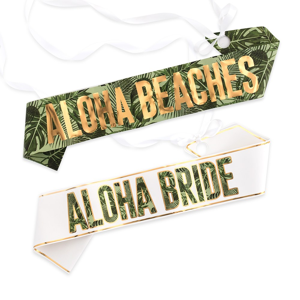 Paper Bachelorette Party Sash - Tropical