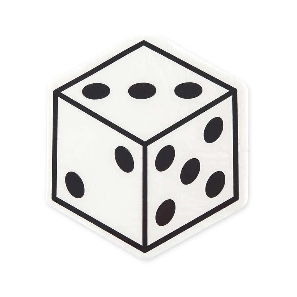 Cute Special Occasion Paper Party Napkins - Vegas Dice - Set of 20