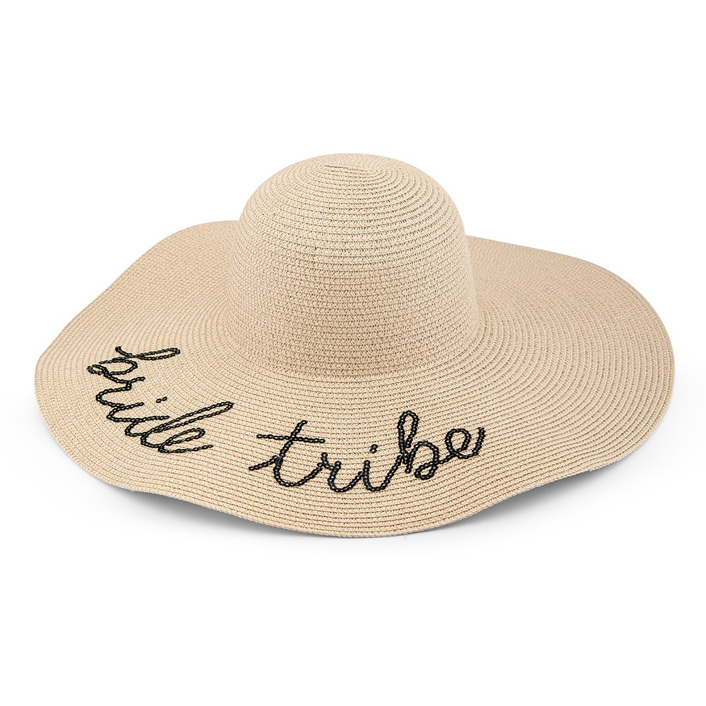 Women's Floppy Straw Sun Hat - Bride Tribe