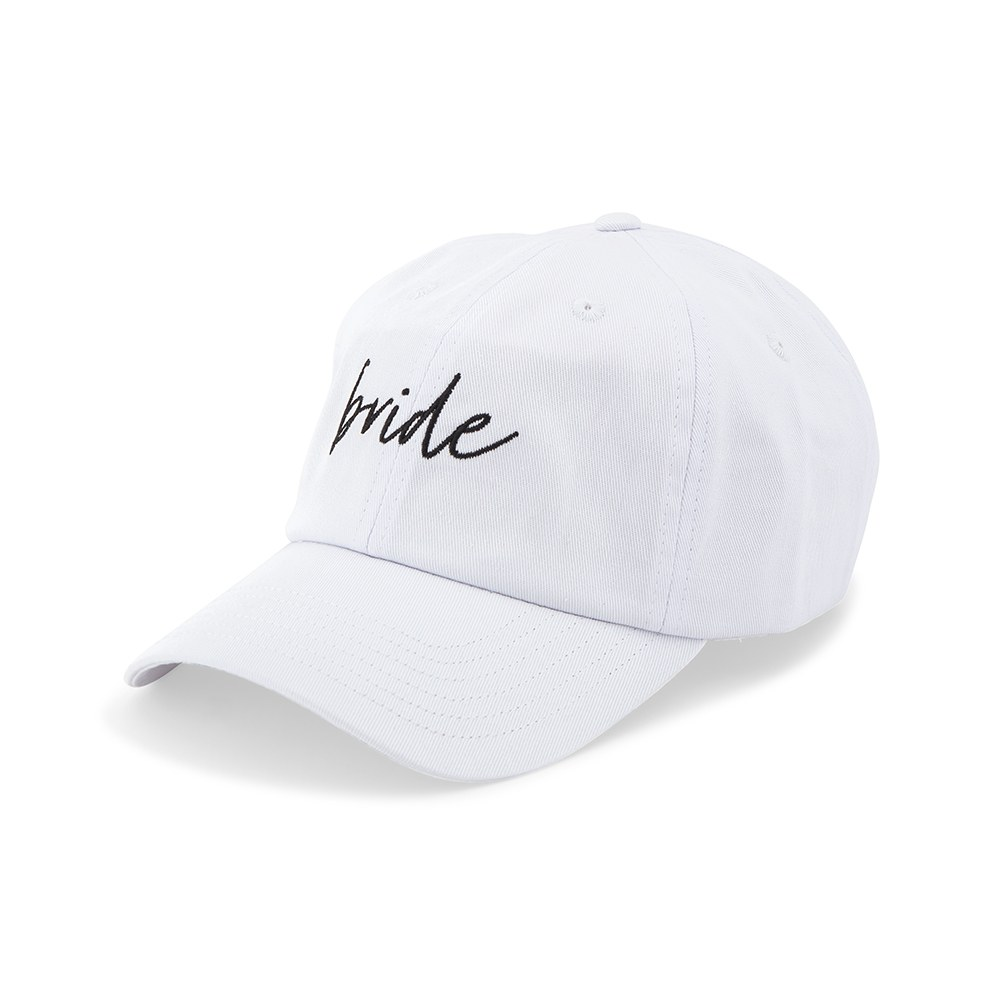 Women's Embroidered Bachelorette Party Dad Hat - Bride Script
