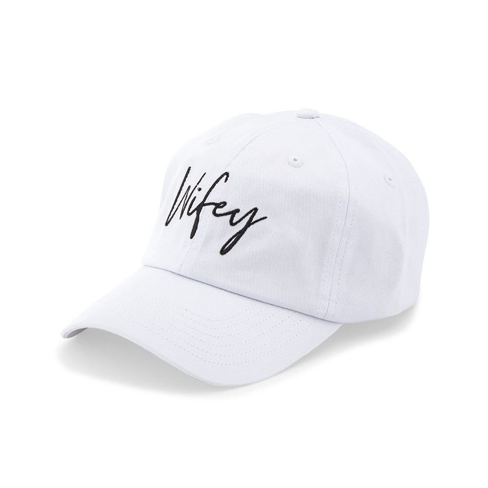 Women's Embroidered Bachelorette Party Dad Hat - Wifey Script