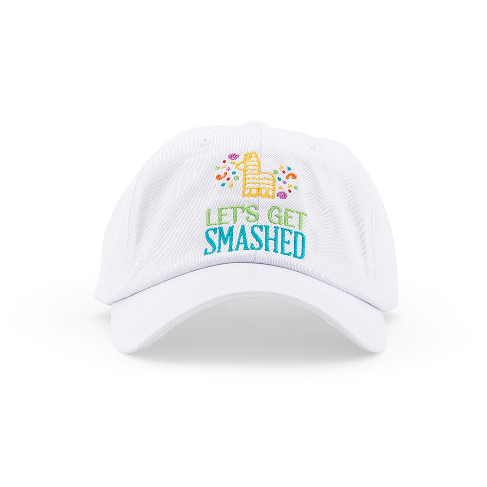 Women's Embroidered Bachelorette Party Dad Hat - Get Smashed