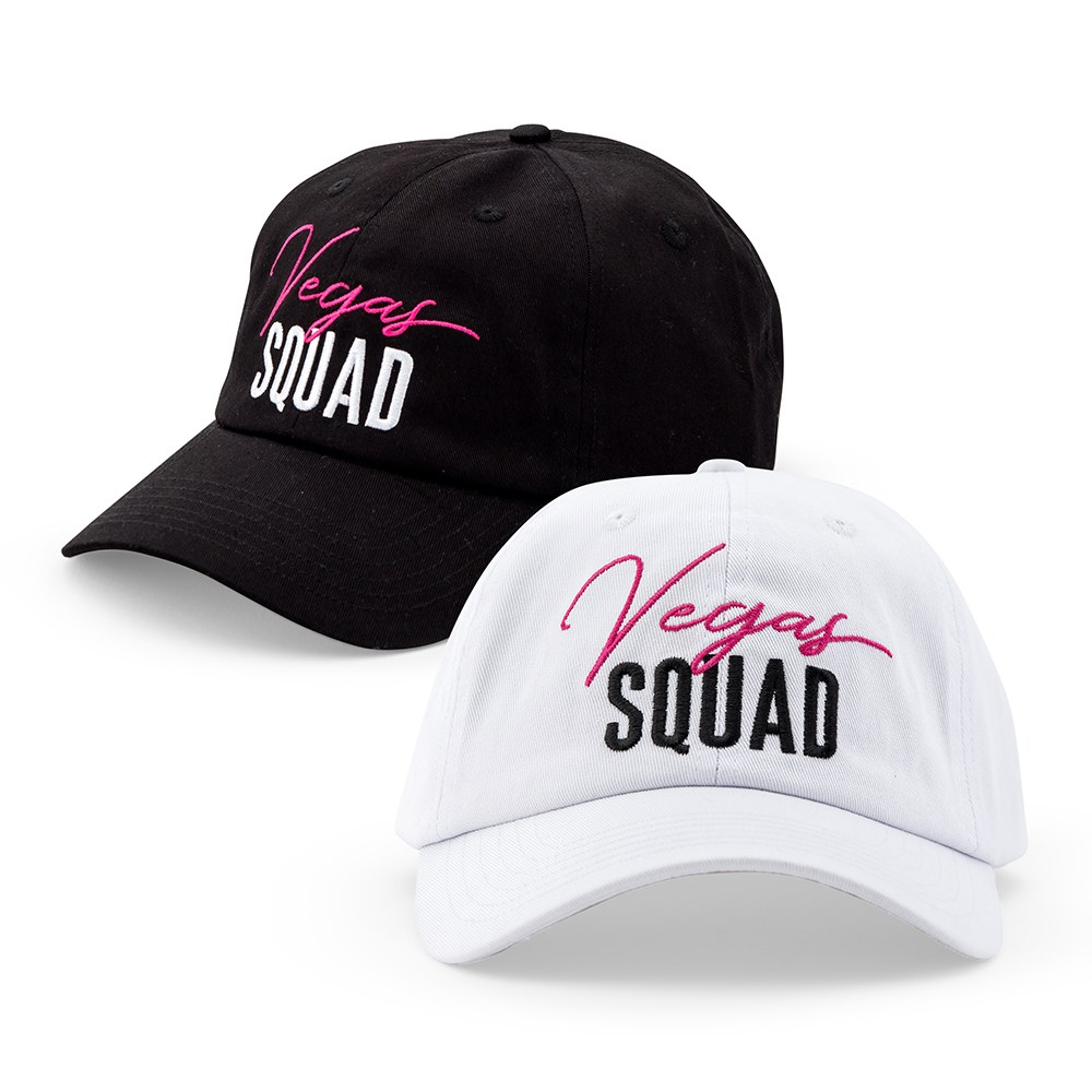 Women's Embroidered Bachelorette Party Dad Hat - Vegas Squad