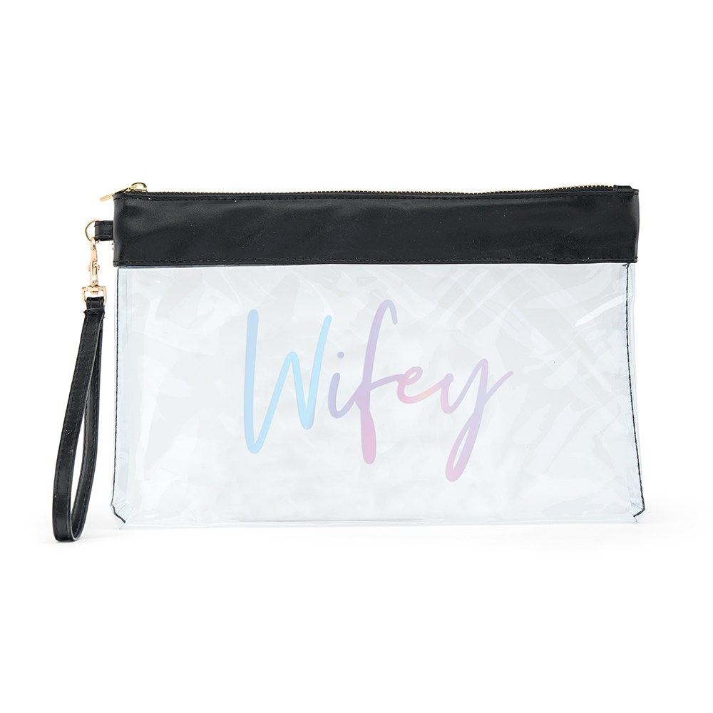 Large Clear Plastic Makeup Bag - Wifey