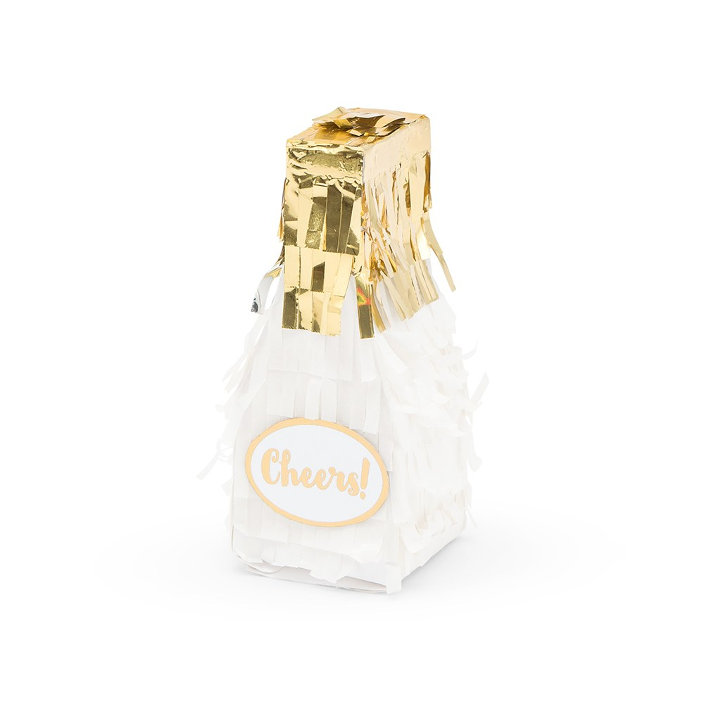 Mini Piñata Favor Box - Champagne Bottle