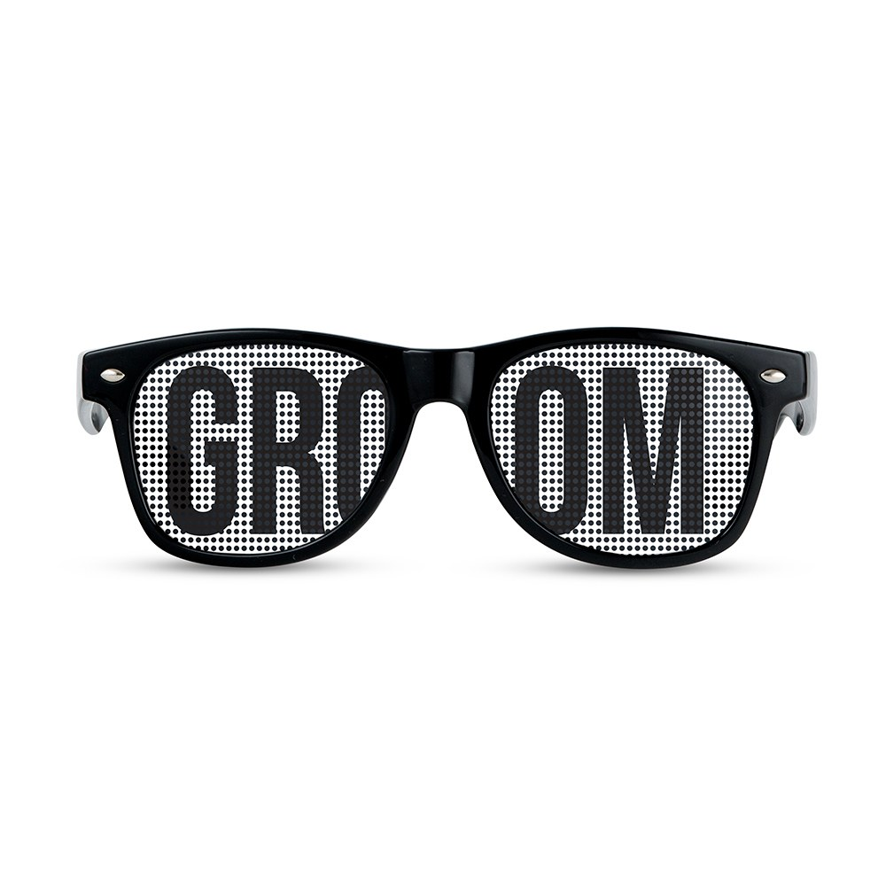 Wedding Party Pinhole Sunglasses - Groom