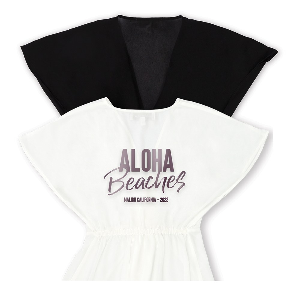 Personalized Sheer Swimsuit Cover-Up Beach Dress - Aloha Beaches