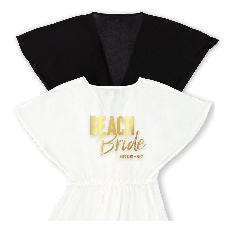 Personalized Sheer Swimsuit Cover-Up Beach Dress - Beach Bride