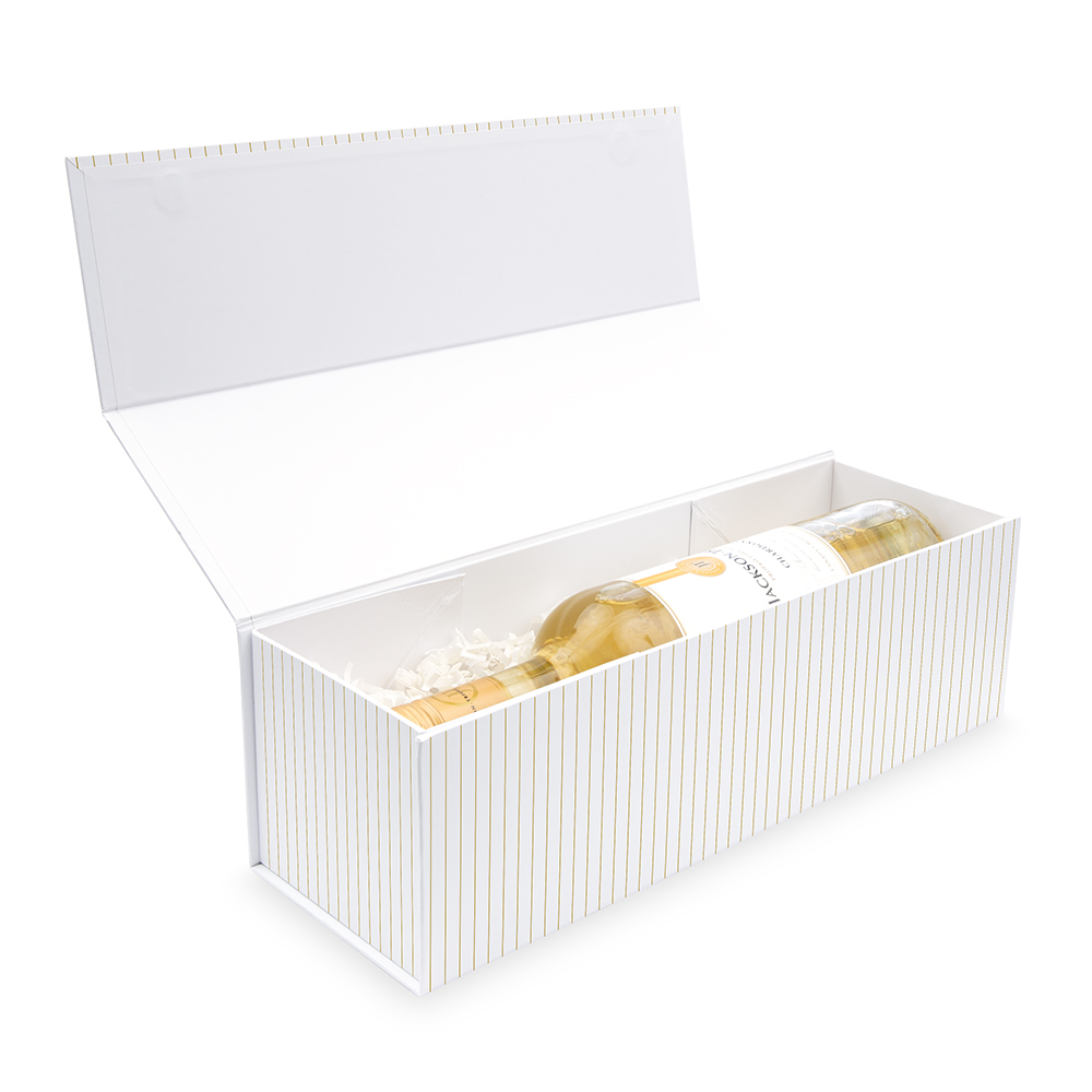 White Wine Gift Box with Magnetic Lid