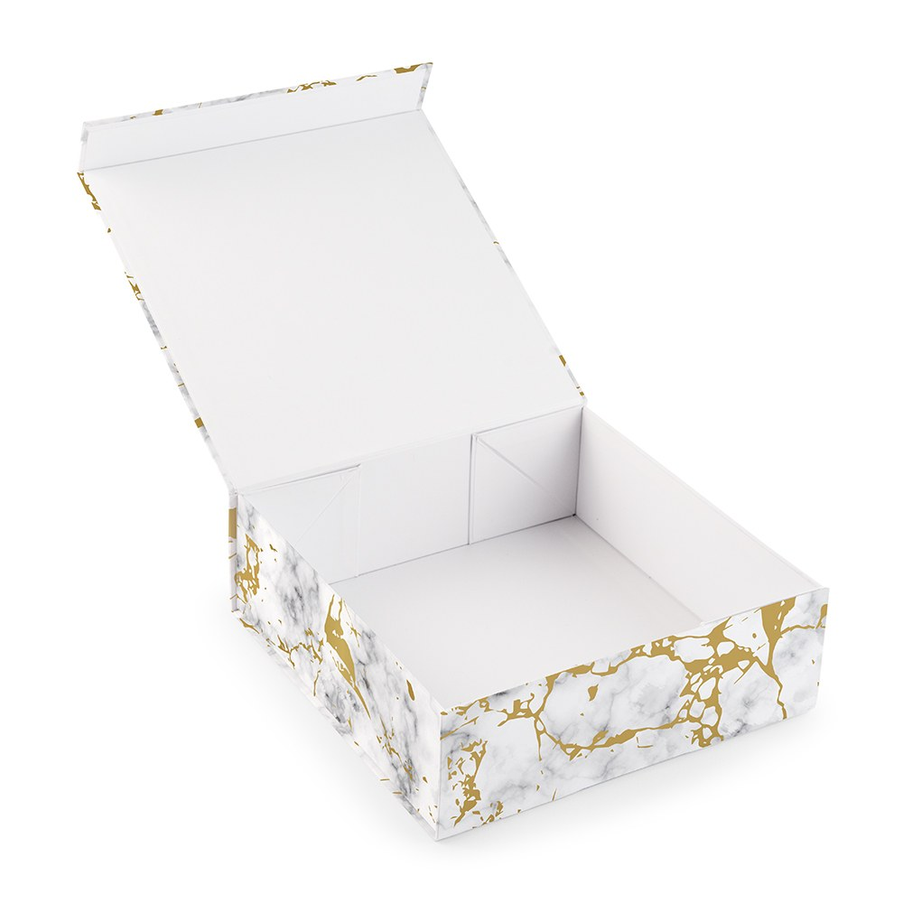 Large Marble Bridal Party Gift Box with Magnetic Lid