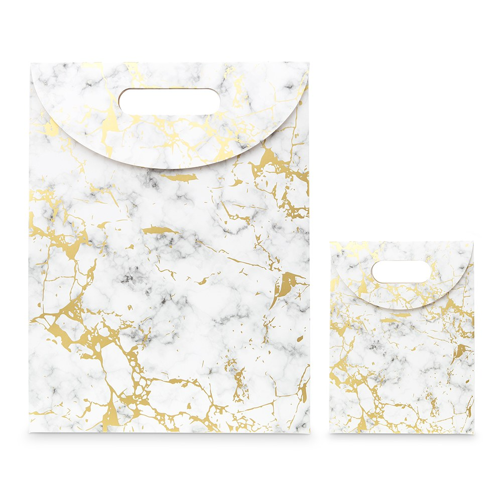 Paper Gift Bag with Handles - Marble