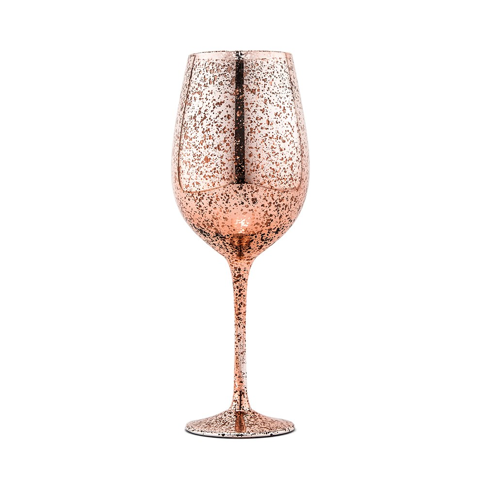 18 oz. Mercury Wine Glass - Rose Gold