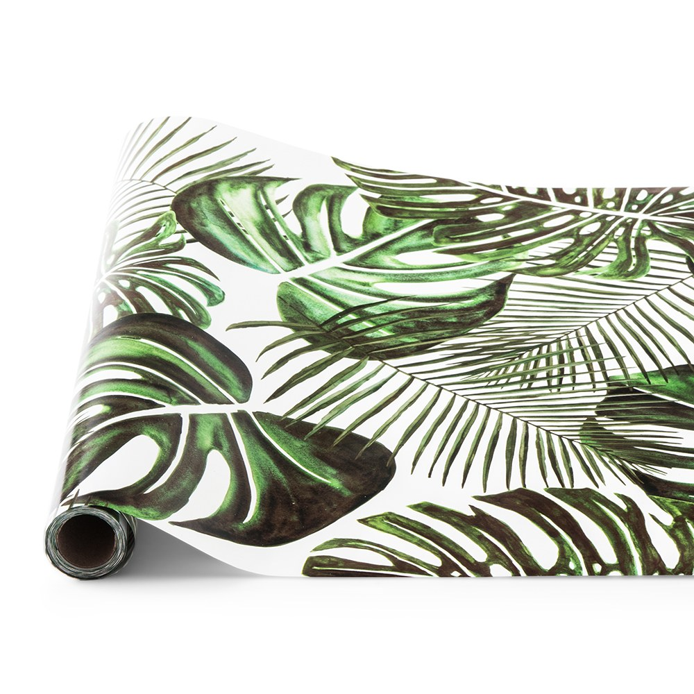 Decorative Paper Table Runner - Monstera Leaf