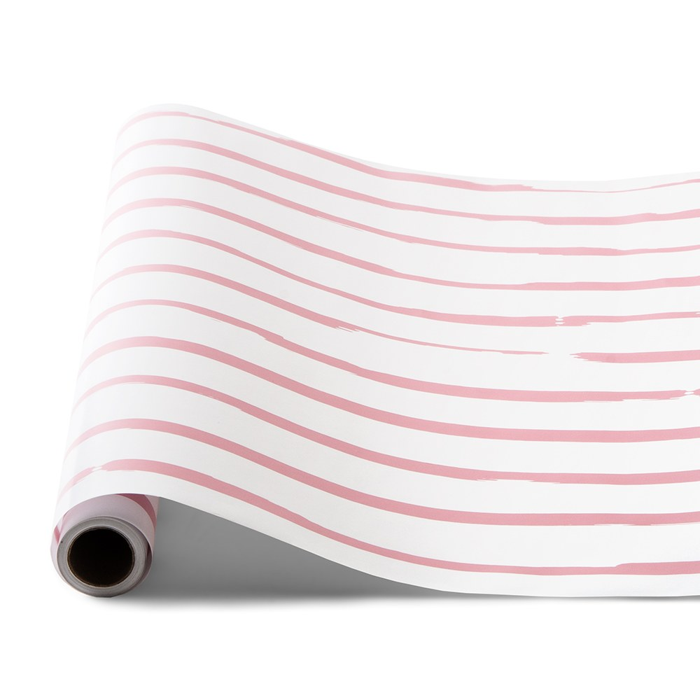 Decorative Paper Table Runner - Light Pink Stripe