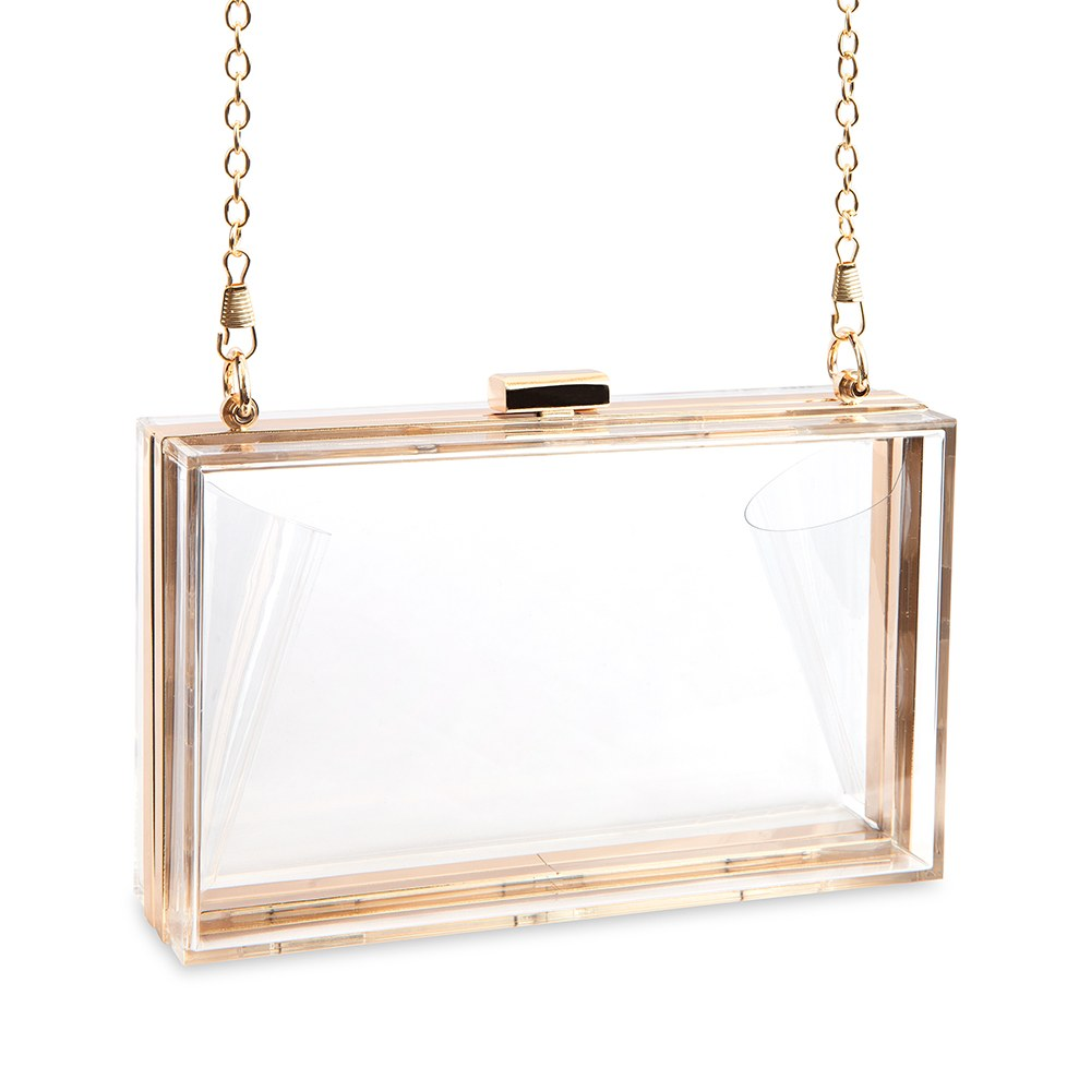 Acrylic Box Clutch - Clear